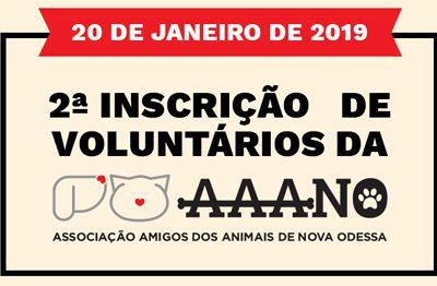 2ª Inscrição de Voluntários AAANO